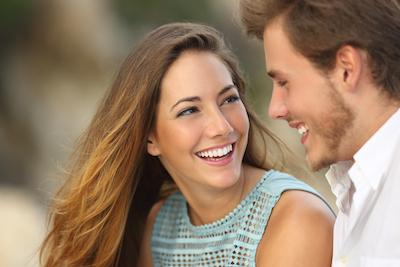 cosmetic dentistry midwest city ok | a couple smiling together